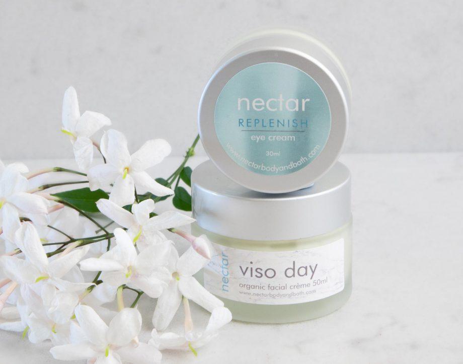 organic-facial-cream-plus-eye-cream and jasmine