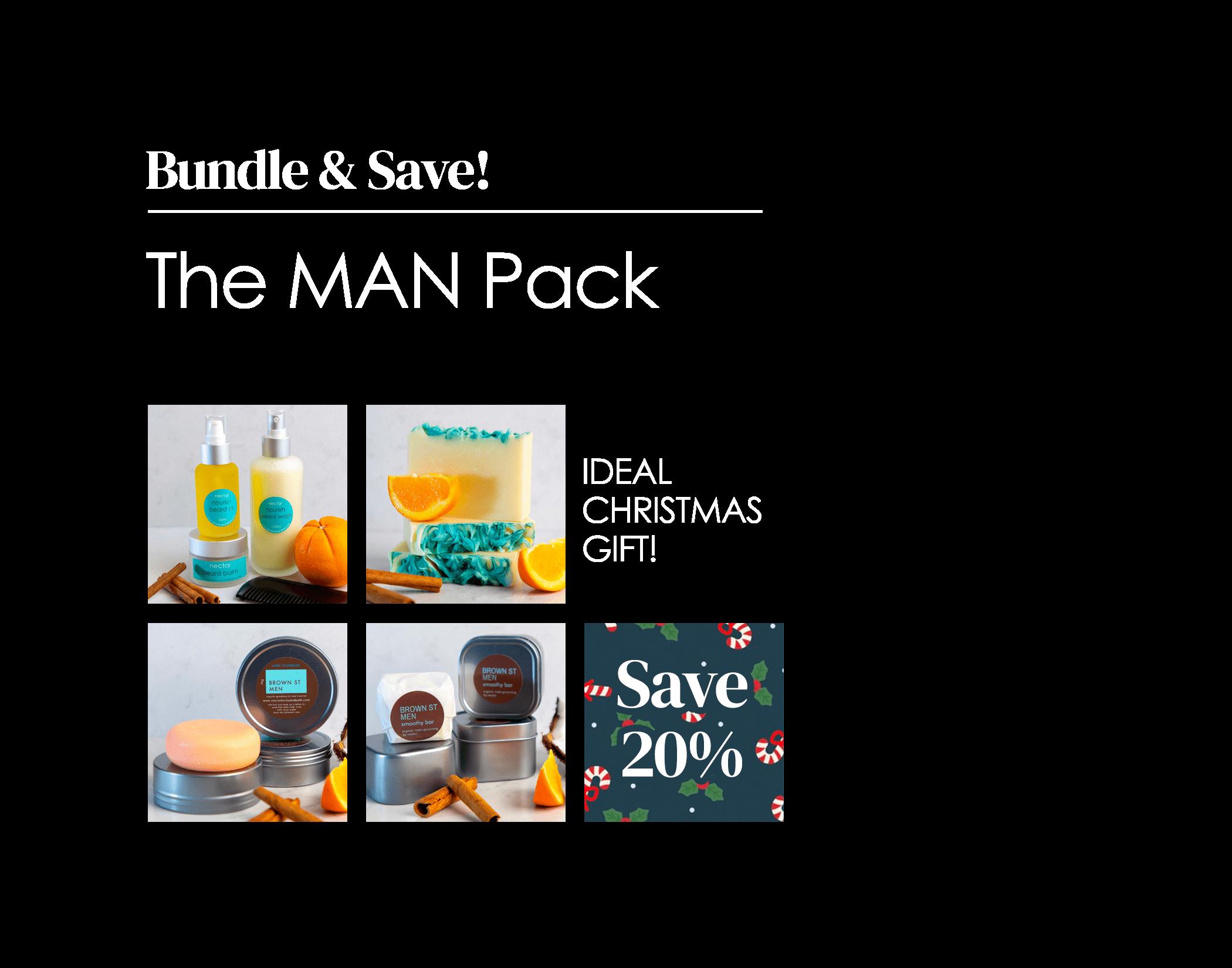 organic male grooming gift pack