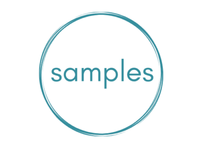 samples word and cirle on transparent background